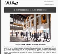 Communiqué de presse – Mai 2016 – 2 ans du Centre de congrès de l'Aube