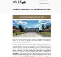 Communiqué de presse – Juillet 2016 – Les châteaux de l'Aube