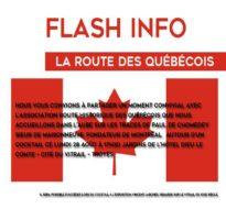 Flash info – Août 2017 – Route des québécois