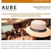 Communiqué de presse – Octobre 2017 – Actions tourisme