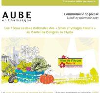 Communiqué de presse – Novembre 2017 – Villages fleuris