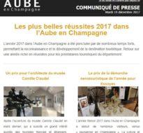 Communiqué de presse – Décembre 2017 – Réussites de l'Aube