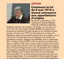 Conférence AOC CHAMPAGNE